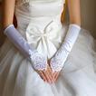 Gant de mariage Chaud Satin Élastique Appliques Printemps Salle Longue