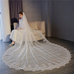 3M queue longue tulle dentelle bord voile accessoires de mariage