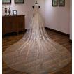 Champagne bling voile de mariée mariée voile de voile luxueux long voile