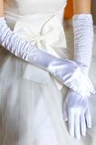 Gant de mariage Chaud Épais Ruché Taffetas Blanc Doigt complet