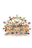 Phoenix Top grade diamant incrusté d'alliage magnifique broche