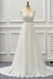 Robe de mariée Taille Naturel Fourreau Avec Bijoux Perle Traîne Courte