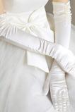 Gant de mariage De plein air Blanc Épais Taffetas Doigt complet Hiver