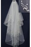 Voile de mariage Chic Blanc Printemps Perle Robe de Mariée Déesse Longue