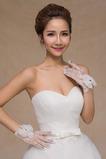 Gant de mariage Blanc Été Décoration Mince Luxe Doigt complet