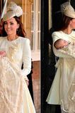 Robe cérémonie fille Princesse Dentelle Taille Naturel 1/2 Manche Manche de Pétale