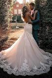 Robe de mariée Sans Manches Automne Taille Naturel Traîne Courte Bretelles Spaghetti