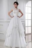 Robe de mariée Plage Manquant Organza Zip A-ligne Fleurs
