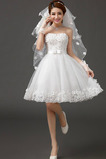 Robe de mariée Sans Ceinture Sans Manches De plein air A-ligne Appliques