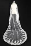 Voile de mariage Appliques Longue Avec Peigne Blanc Robe de Mariée Déesse