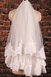 Voile de mariage Avec Peigne Dentelle Chic De plein air Blanc Robe de Mariée Déesse