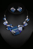 Femmes fleurs cristal chaud vente collier en argent