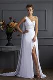 Robe de bal Manquant Perle Romantique Épaule Asymétrique Thigh-High Slit