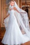 Robe de mariée Tissu Dentelle Taille Naturel Automne A-ligne Trou De Serrure