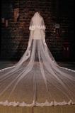 Grand voile de dentelle de fuite voile de mariée long voile de mariage