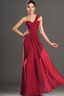 Robe de soirée Rouge Elégant Fourreau plissé Plissé Sans Manches