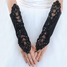 Gant de mariage Approprié De longueur moyenne Ombre Blanc Sans doigt