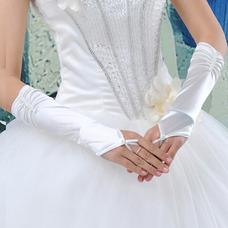 Gant de mariage Perle Romantique Épais Blanc Chaud Sans doigt