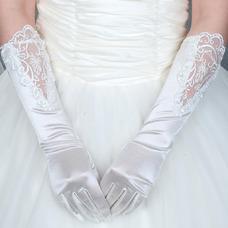 Gant de mariage Eglise Chic De longueur moyenne Approprié Tissu Dentelle