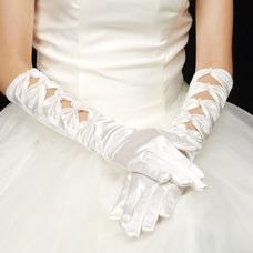 Gant de mariage Chaud Longue Blanc Approprié Vintage Doigt complet