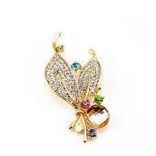 Vente en gros femmes incrusté diamant nouveau style Crystal broche Broche