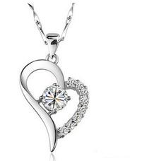 Vente chaude en forme de coeur bordé de femmes Bright briller de collier