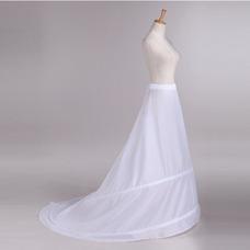 Jupon de mariage Trailing Taille elastique Deux jantes Polyester taffetas