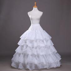 Jupon de mariage Robe de mariée Longue Flouncing Polyester taffetas