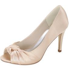 Chaussures de tête de poisson de mariée chaussures de mariage en satin chaussures habillées stylet chaussures de banquet de haute qualité