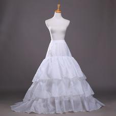 Jupon de mariage Polyester taffetas Flouncing À la mode Trailing Longue
