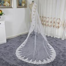 Voile de mariée dentelle voile cathédrale voile pas cher voile
