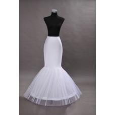 Jupon de mariage Sirène À la mode Corset Robe de mariée Matériel élastique