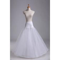 Jupon de mariage Jantes simples Robe de mariée Matériel élastique Longue