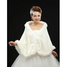 Châle de mariage Crystal Floral Pin Automne Épais Grandes places Blanc