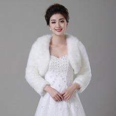 Châle de mariage Baggy Sleeves Manche Longue Blanc Salle Chaud Veste