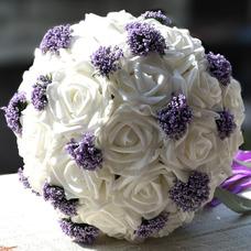 Bouquets de mariée blanches de la tenue d'un cadeau de mariage bouquet cadeaux pure simulation manuelle