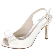 Summer Satin High Heels Noble Elegant Banquet High Heels Wedding Prom Women's Shoes