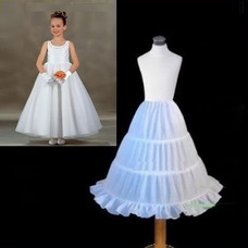 Jupon de mariage Robe de chambre la norme Trois jantes Blanc Taille elastique