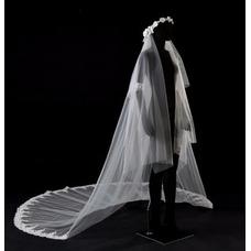 3.5m voile de mariée cathédrale voile de mariée voile de dentelle