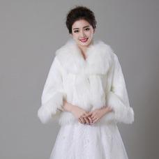 Châle de mariage Épais Manche Longue Bouton Manche de Clochette Vintage