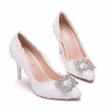 Strass chaussures simples chaussures de mariage chaussures de fête en dentelle