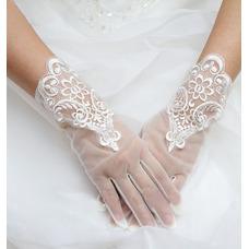 Gant de mariage Dentelle Printemps Décoration Tissu Dentelle Doigt complet