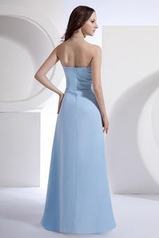 Robe demoiselle d'honneur Elégant Milieu Sans Ceinture Orné de Rosette Avec châle