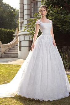Robe de mariée Modeste Mancheron Taille Naturel Salle Lacet Col Carré