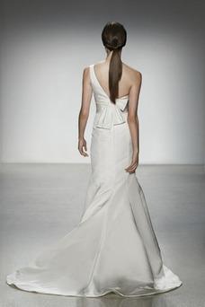 Robe de mariée Simple Longue Satin Taille Naturel Printemps Sans Manches