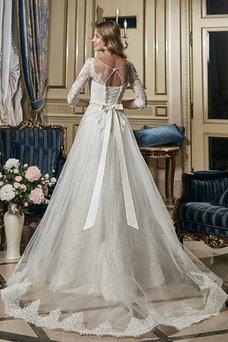 Robe de mariée De plein air Taille Naturel Printemps Classe Appliques