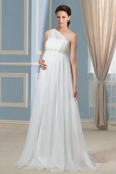 Robe de mariée Grandes Tailles Sans Manches De plein air Mousseline