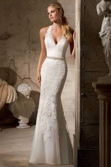 Robe de mariée Licou Chic Zip Salle Cristal Sans Manches