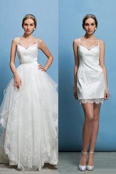 Robe de mariée Tissu Dentelle Plage Glamour Printemps Zip Taille Naturel