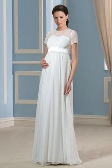 Robe de mariée Tissu Dentelle Empire Taille Empire Gaze Orné de Nœud à Boucle